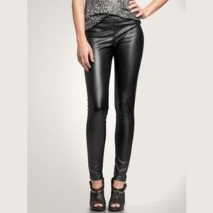 New The GAP  Black Faux Leather Skinny Pants